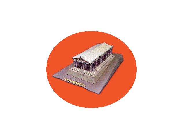 Сделаем у себя дома настоящее архитектурное чудо. Схему и пошаговую инструкцию Парфенона вы найдёте во вложенном файле.