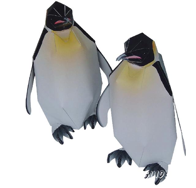 паперкрафт развертки пингвин
