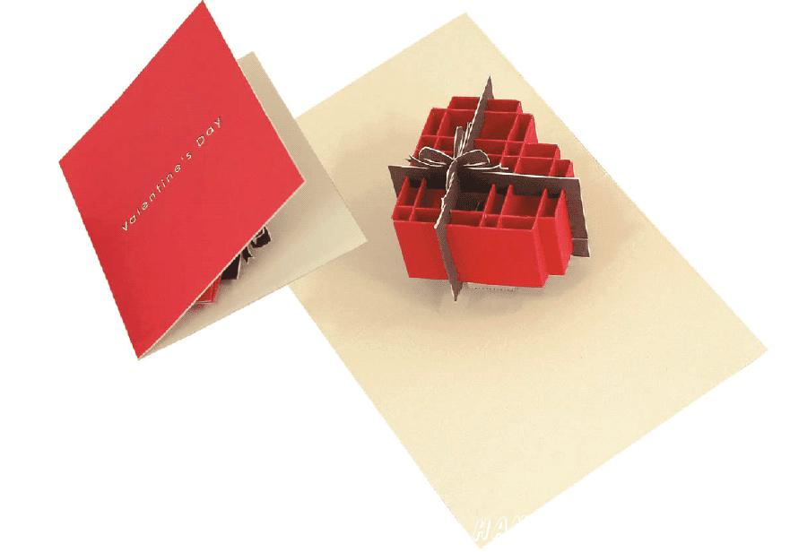 Pop-up card (Heart-box)
