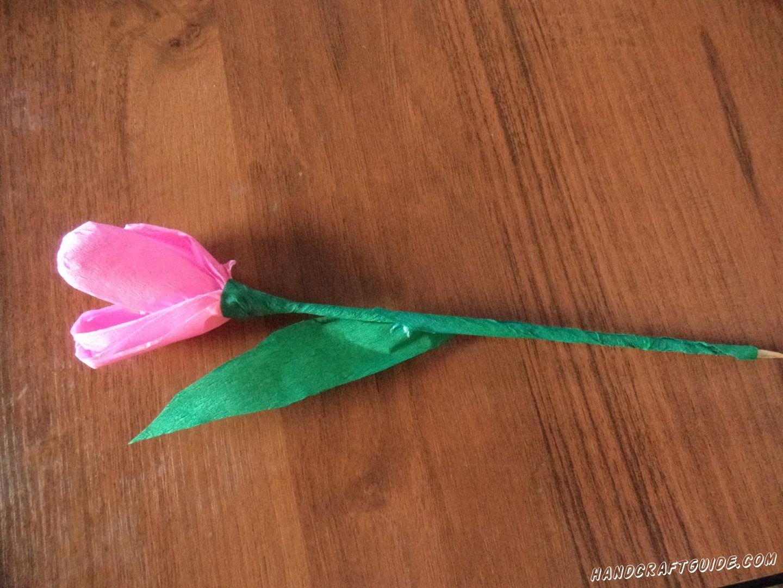 Хотите удивить красивым подарком? Тогда вам сюда, ведь мы, прямо сейчас, будем делать красивый тюльпан из цветной бумаги