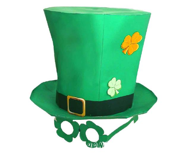 Сделай забавную шляпу ко дню Святого Патрика из бумаги, прямо сейчас. Осталось только скачать схему и следовать инструкции.