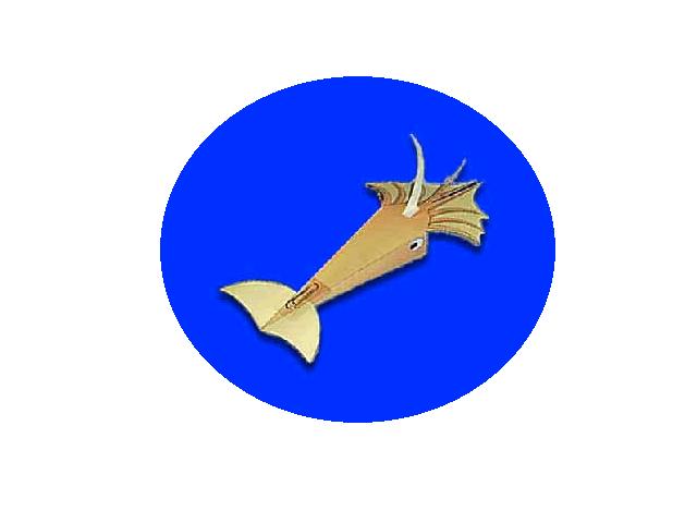 Морские жители из бумаги обязательно украсят вашу комнату, осталось только выполнить поделки. Объемная фигурка летающего кальмара находится в прикреплённом файле, специально для вас.