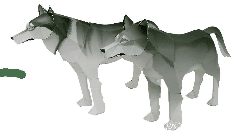Собери свою стаю волков из бумаги, с помощью вложенной схемы. Нужно всего лишь скачать схему, распечатать, вырезать все части и склеить их воедино!