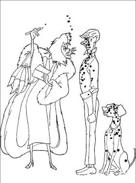"""Вторая часть разукрашек с персонажами любимого мультфильма """"101 долматинец"""""""