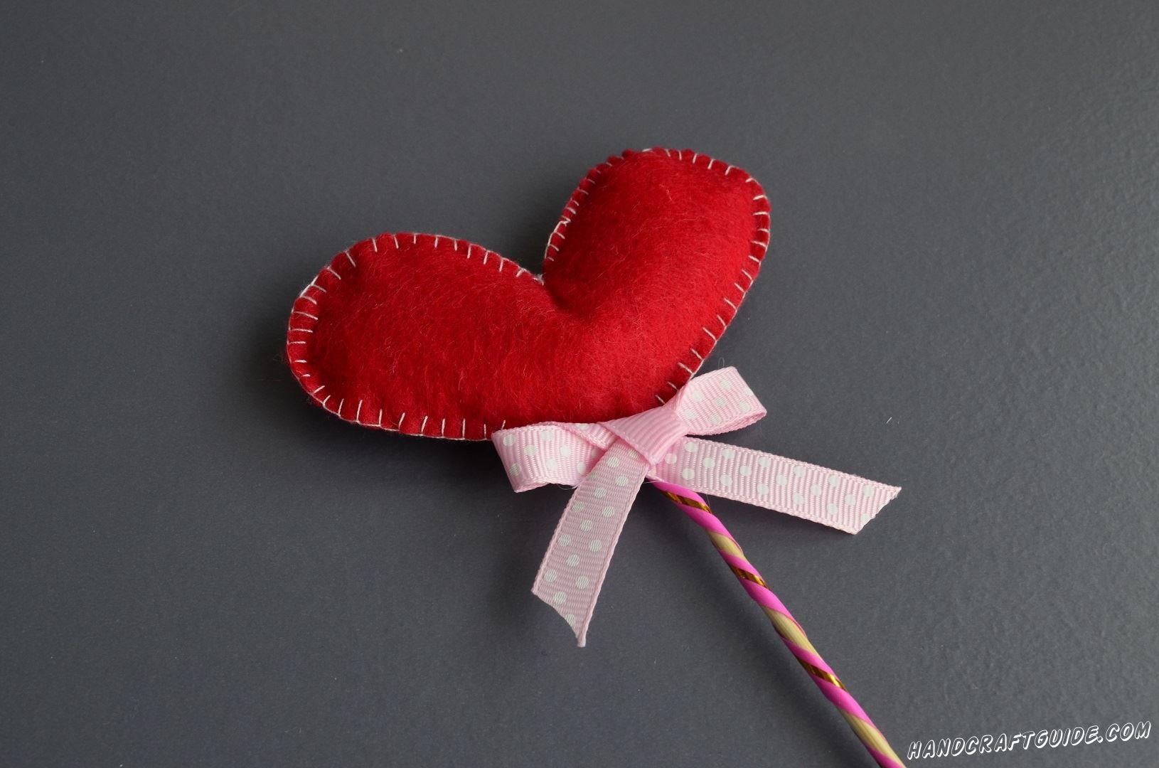 сердечко из ткани для подарка