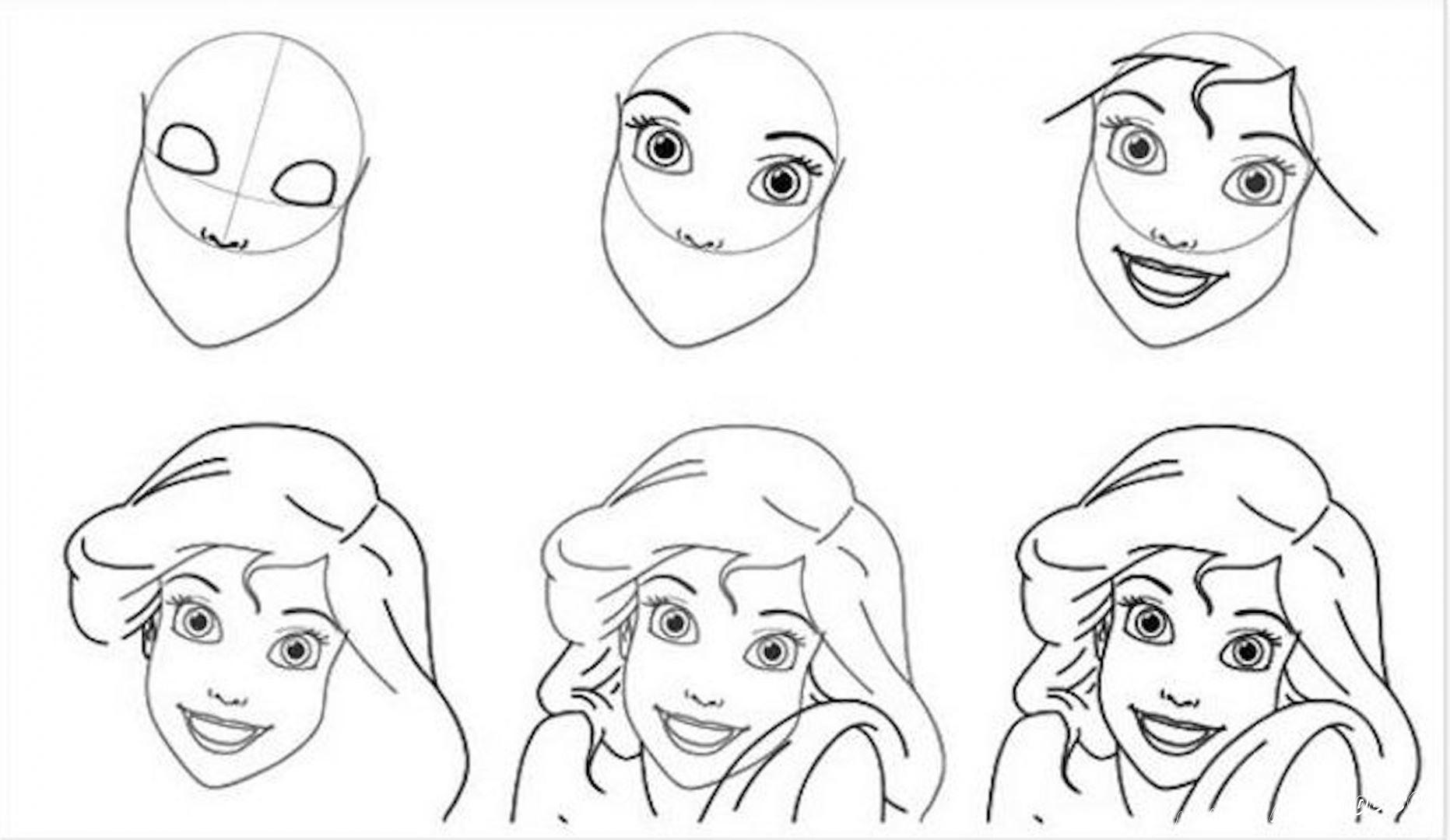 срисовка принцесса для девочек