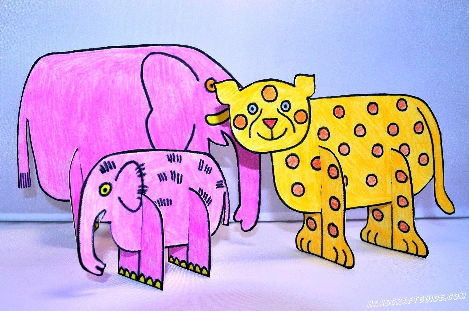 Слоны в нашем зоопарке уже есть, давайте сделаем теперь и такого красивого тигра, который уже ждёт вас на нашем сайте.