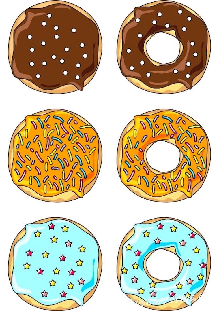 рисунки для срисовки пончики