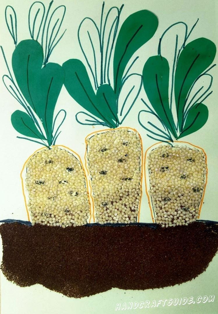 поделка для детского сада очень просто морковка