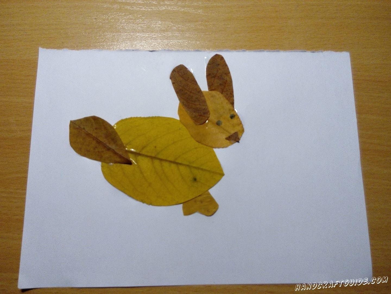 поделка из осенних листьев для маленьких