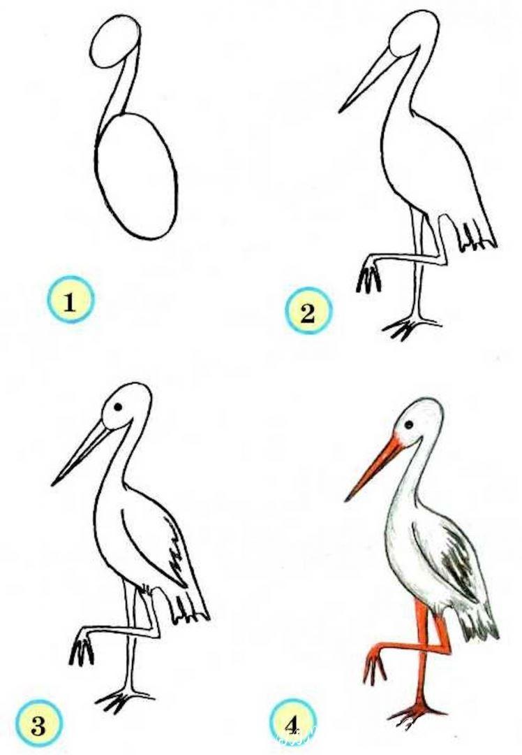 поэтапный рисунок для детей