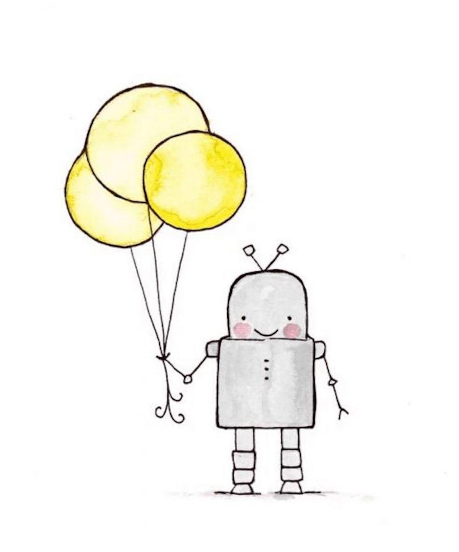 картинка робот нарисовать