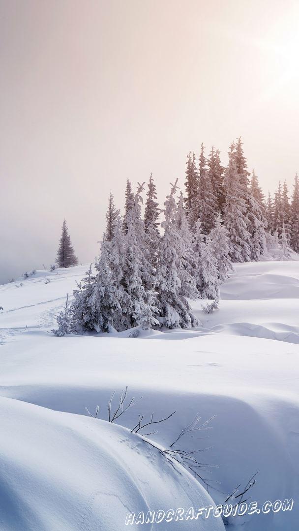 новогодние зимние пейзажи