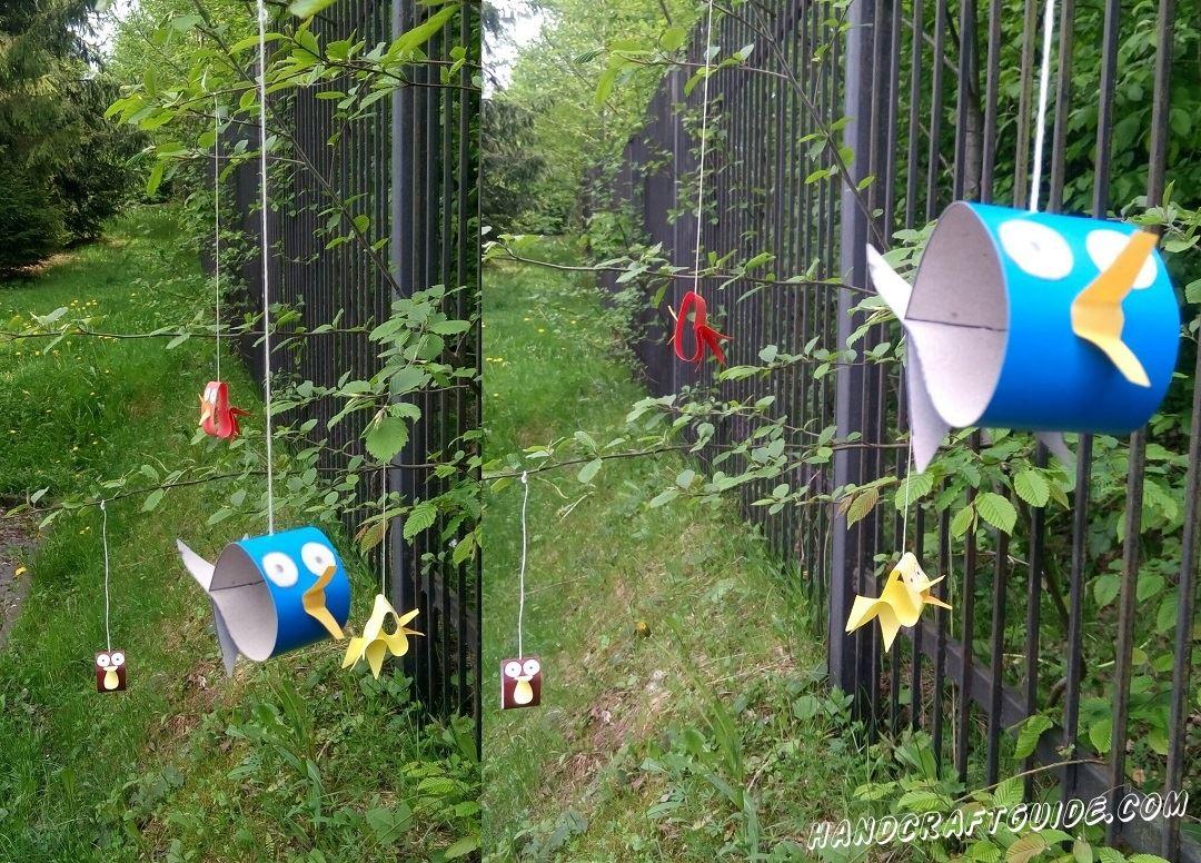 Эти птички из картона умеют летать не хуже настоящих, и сейчас мы вам расскажем как сделать такую поделку.