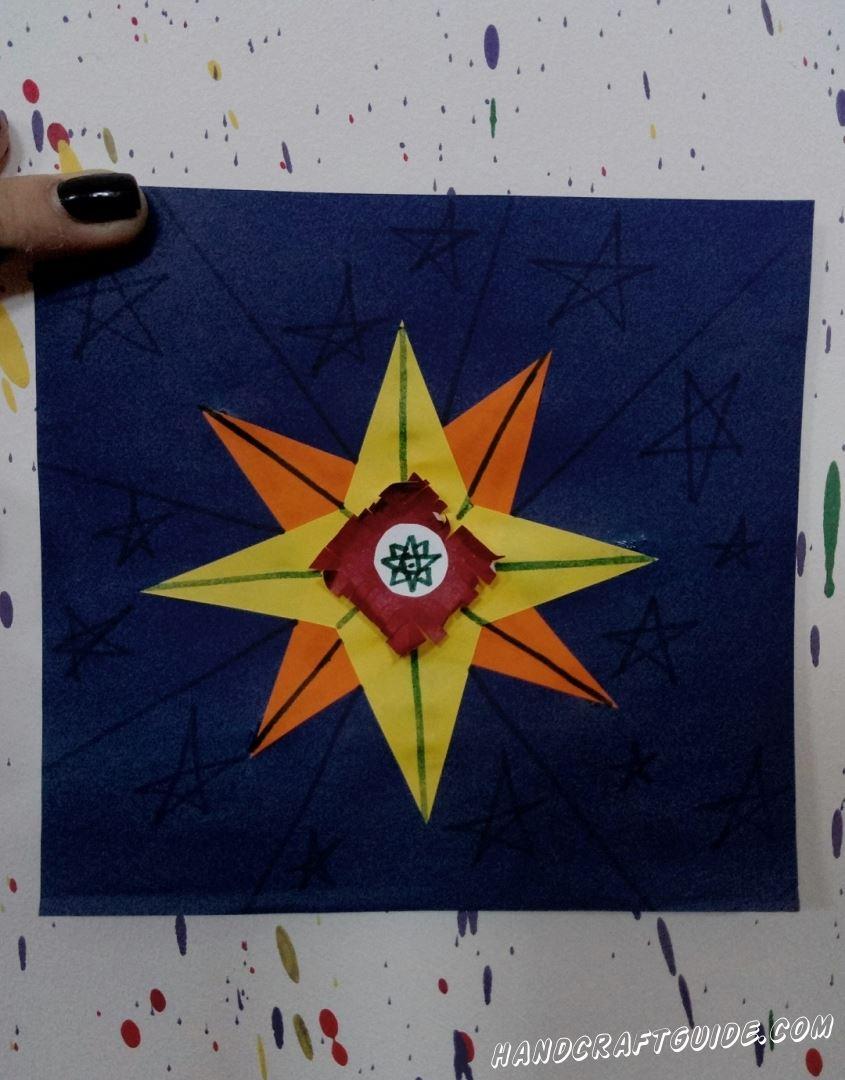Звезда из цветной бумаги, которую вы достали для своих любимых.