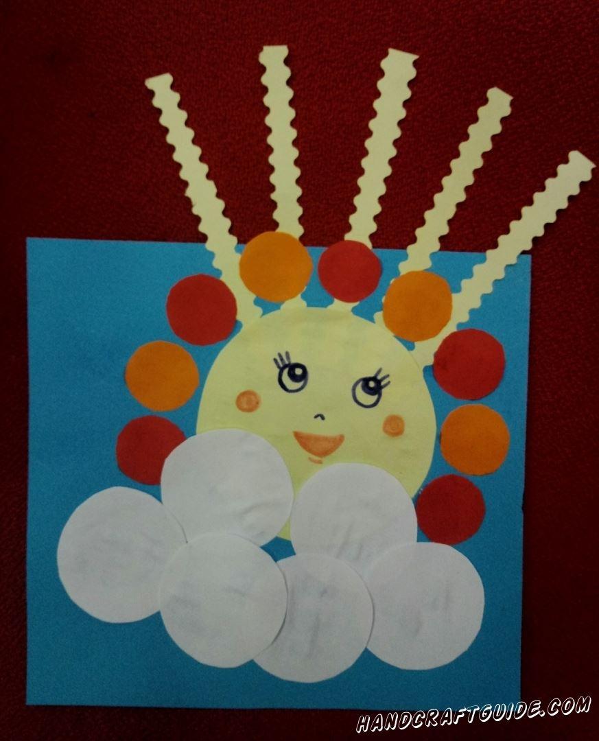 Пусть это солнышко из цветной бумаги дарит вам тепло каждый день