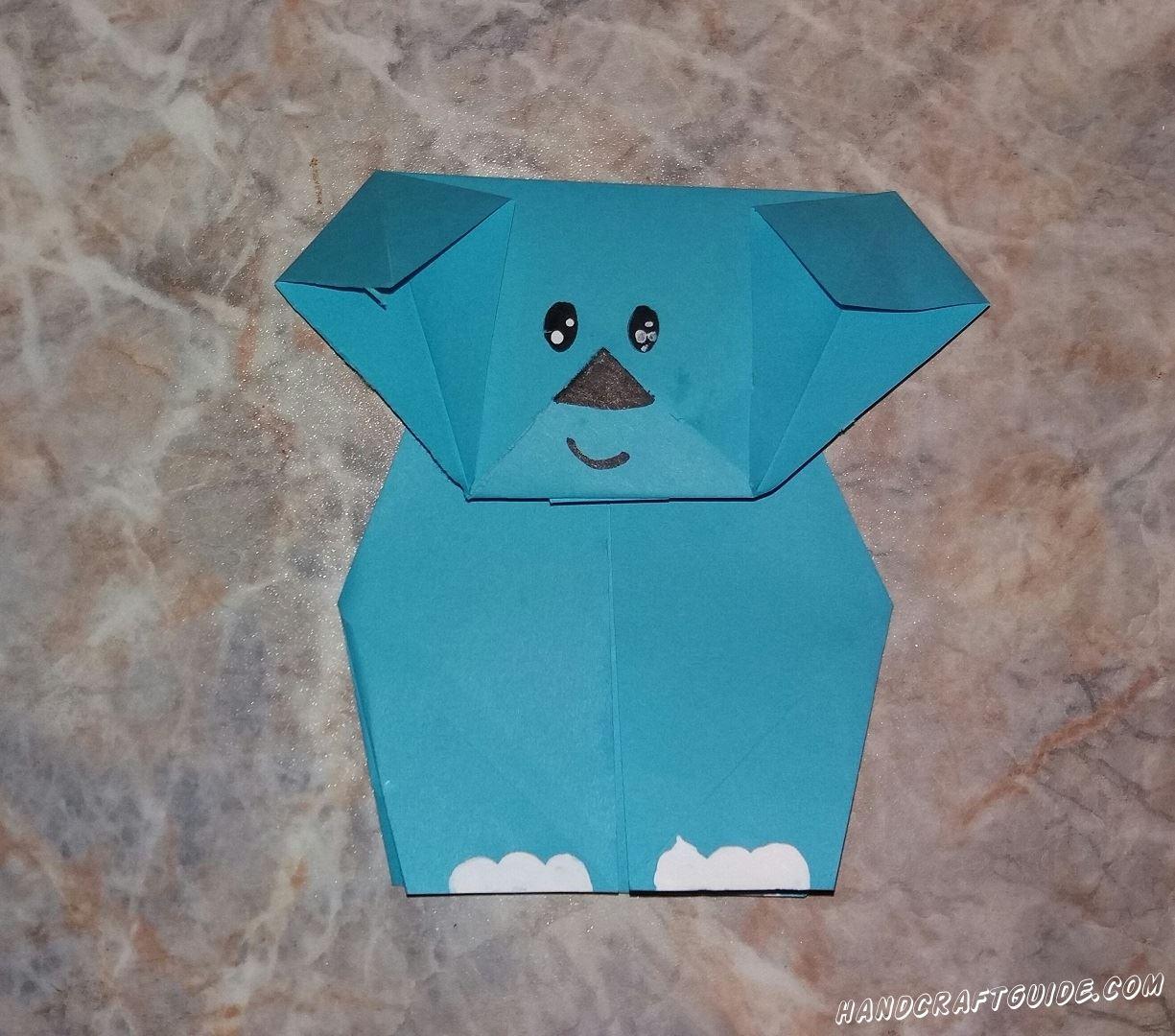 Сейчас мы сделаем милого слоника с помощью техники оригами