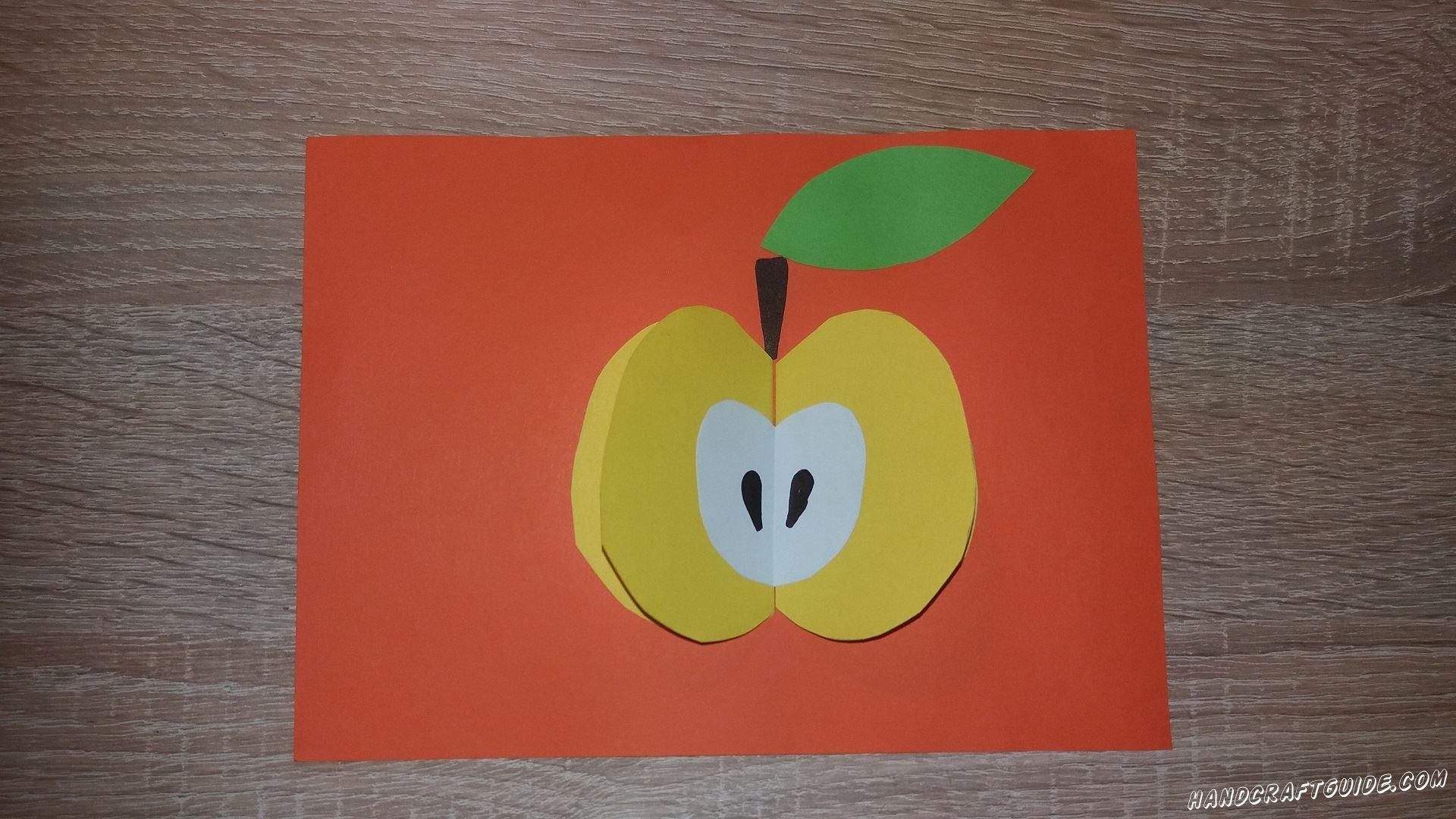 Привет всем! Давайте вместе сделаем яблочко на красивом красном фоне.