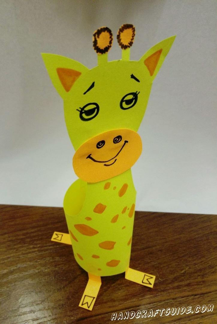 Жирафик своими руками из подручных средств, специально для Вас!