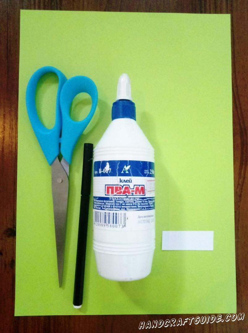 Для изготовления крокодила нам понадобится: Цветная бумага Клей Ножницы Фломастеры Фигурные ножницы