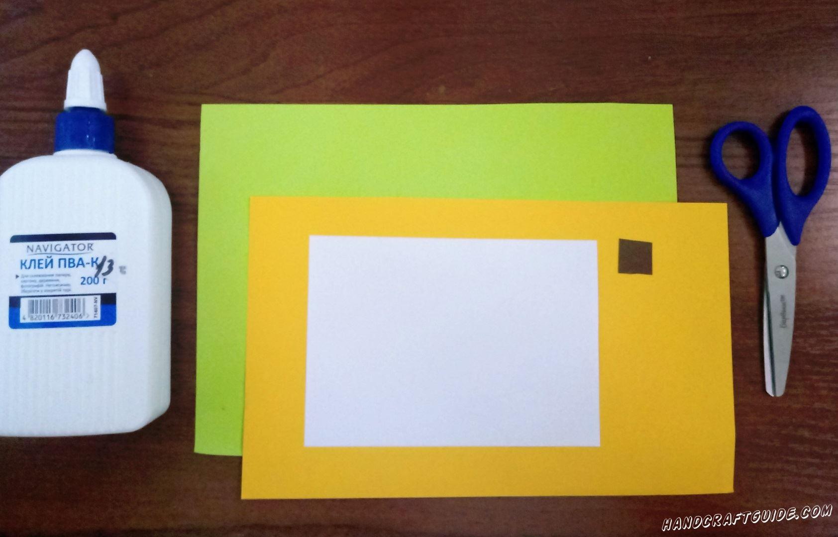 Для изготовления нам понадобится: Цветная бумага Клей Ножницы Фломастеры