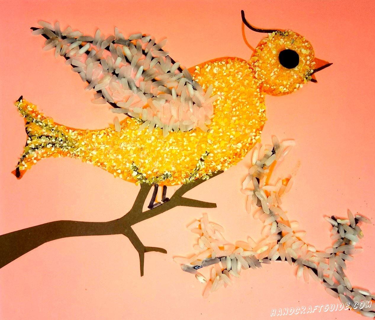 Осенняя Птичка из различных круп