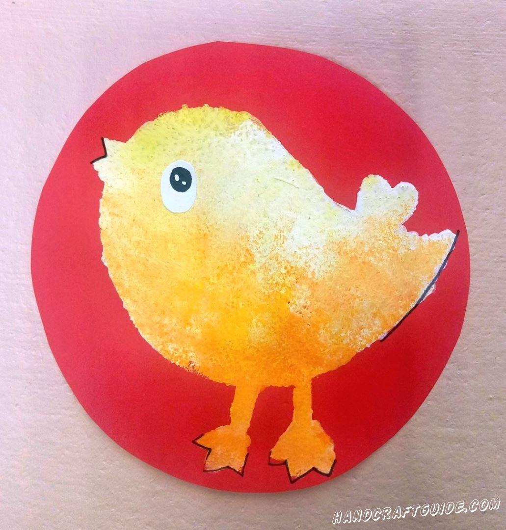 Рисуем губкой на бумаге! Хотите узнать, как это сделать, на примере такого вот рисуночка с цыплёнком? Тогда скорее присоединяйтесь к нам.