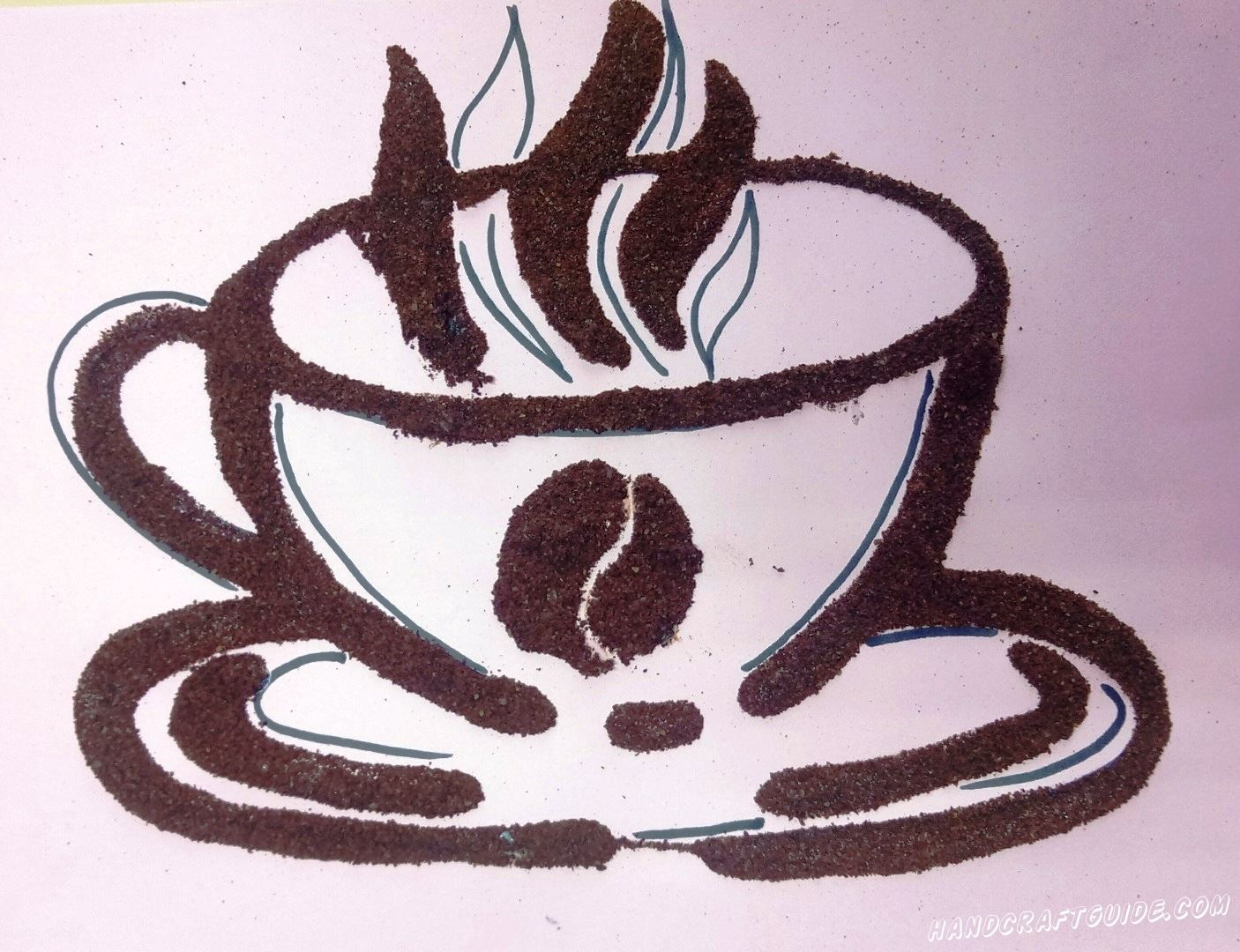 аппликация чашки кофе