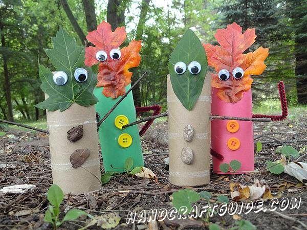 Осенние поделки из втулок туалетной бумаги для детей своим руками