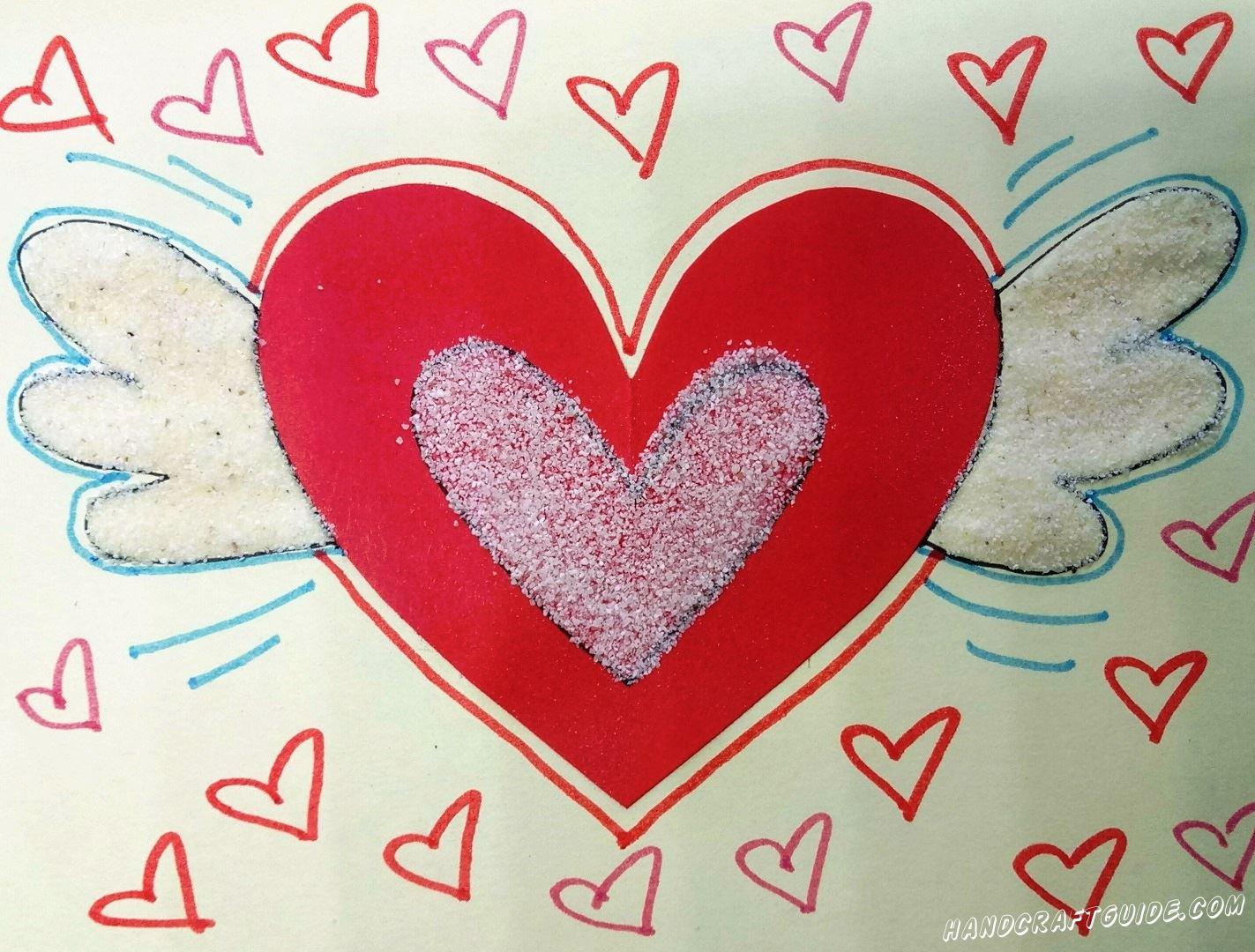Давайте дарить любовь нашим близким как можно чаще, с помощью открытки.