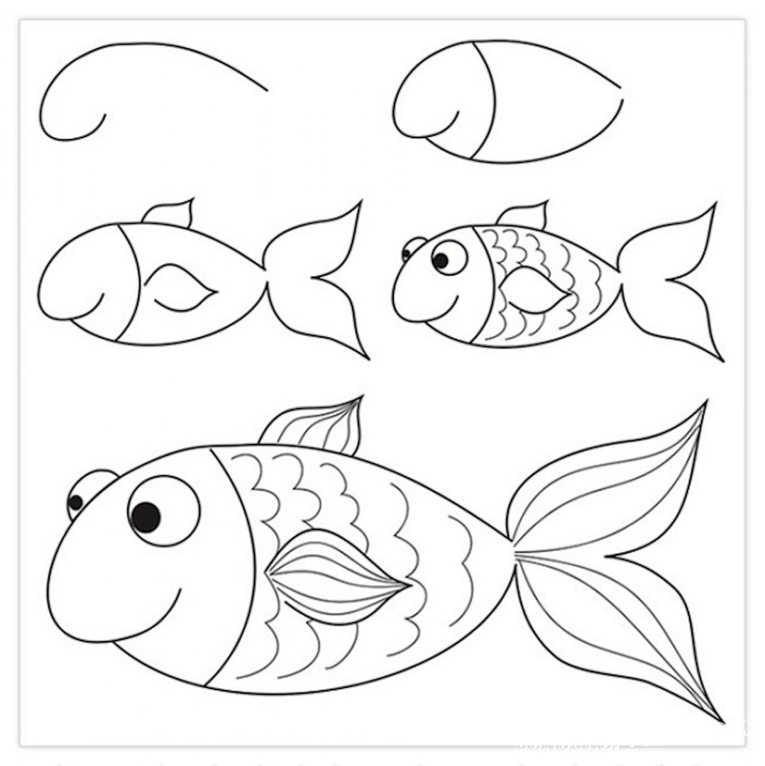 картинка рыбка для начинающих