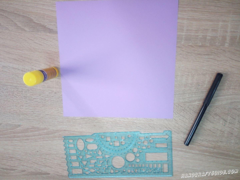 Для выполнения данной поделки нам понадобится: Цветная бумага Линейка Фломастеры (Карандаши) Ножницы Клей
