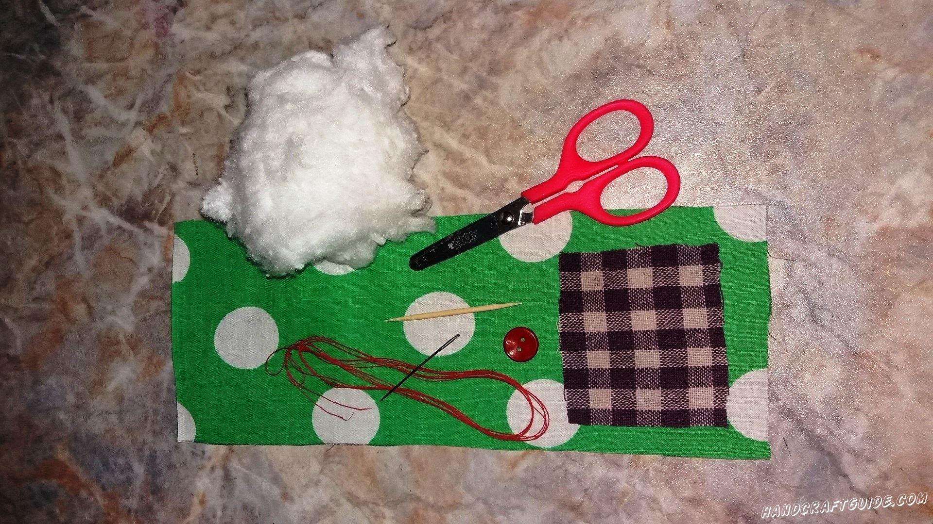 как сшить ёлку из ткани