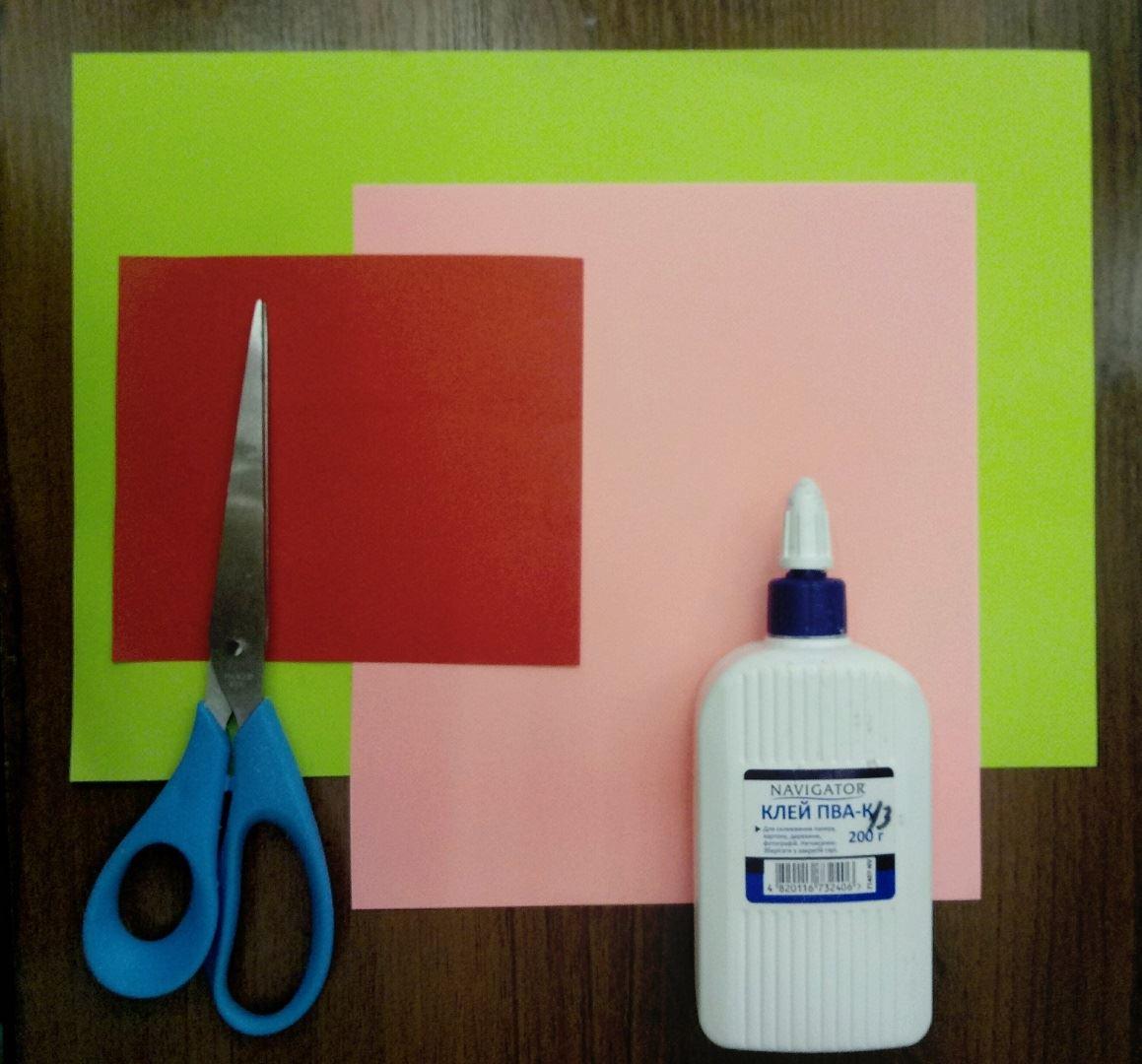 Для выполнения данной поделки нам понадобится: Цветная бумага Ножницы Клей Фломастеры (Карандаши) Канцелярский нож