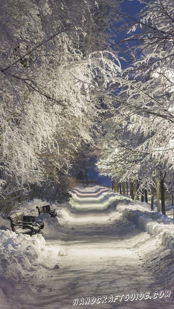 зимние пейзажи картинки на заставку