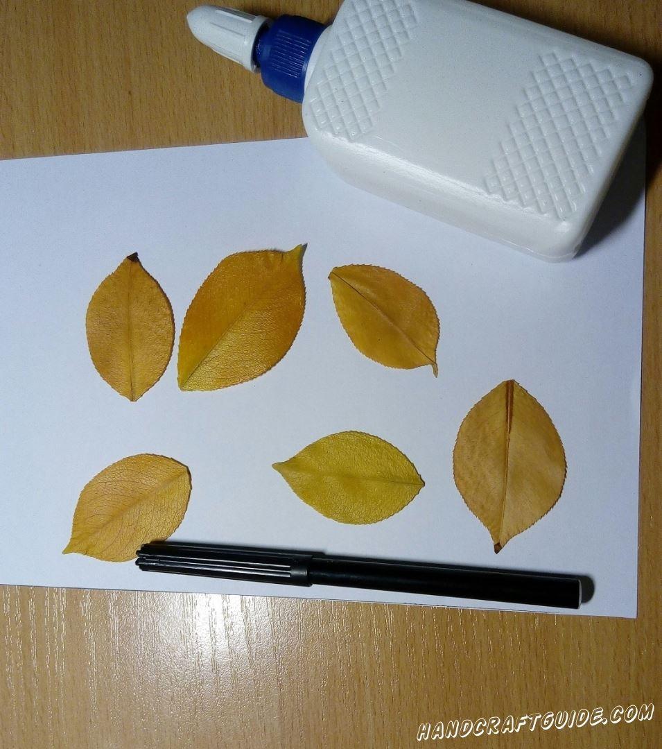очень легко аппликация из осенних листьев для детей