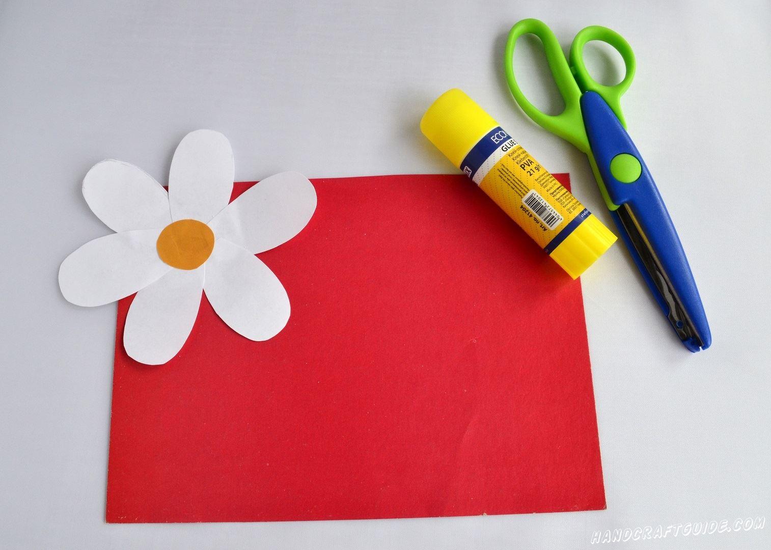 цветы из бумаги для подарка