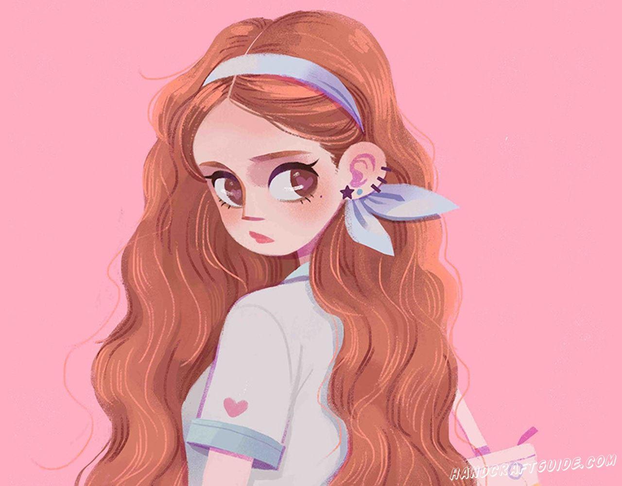 рисунок для срисовки девушка