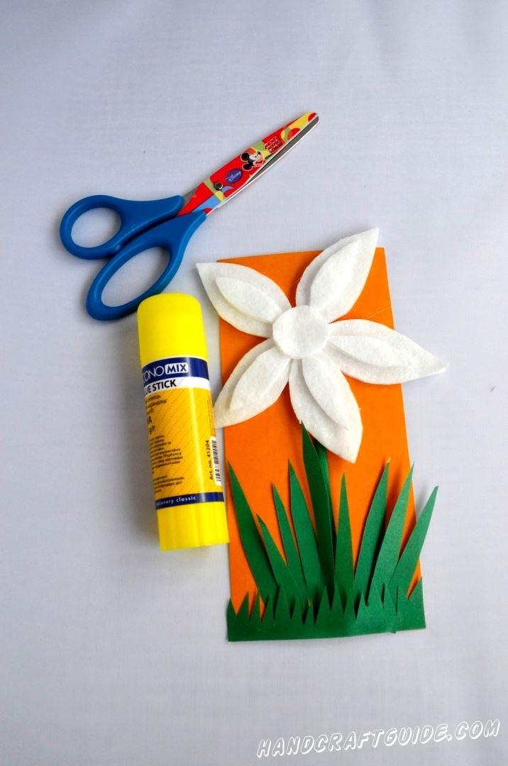 аппликация цветок для детей