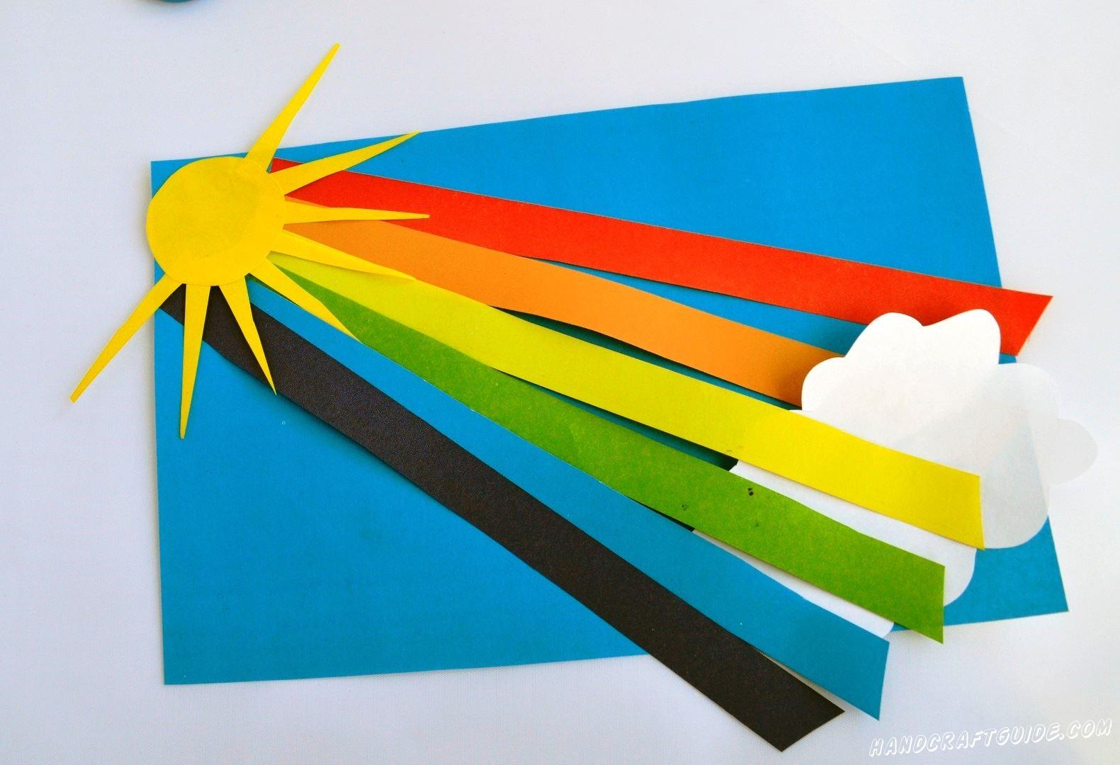 обьемная аппликация радуги