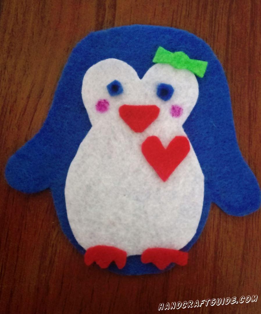 фигурка из ткани своими руками пингвин