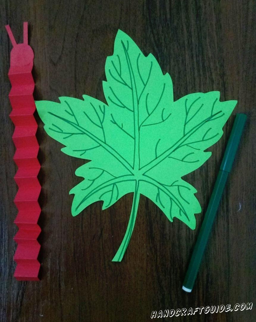 Разрисовываем листочек