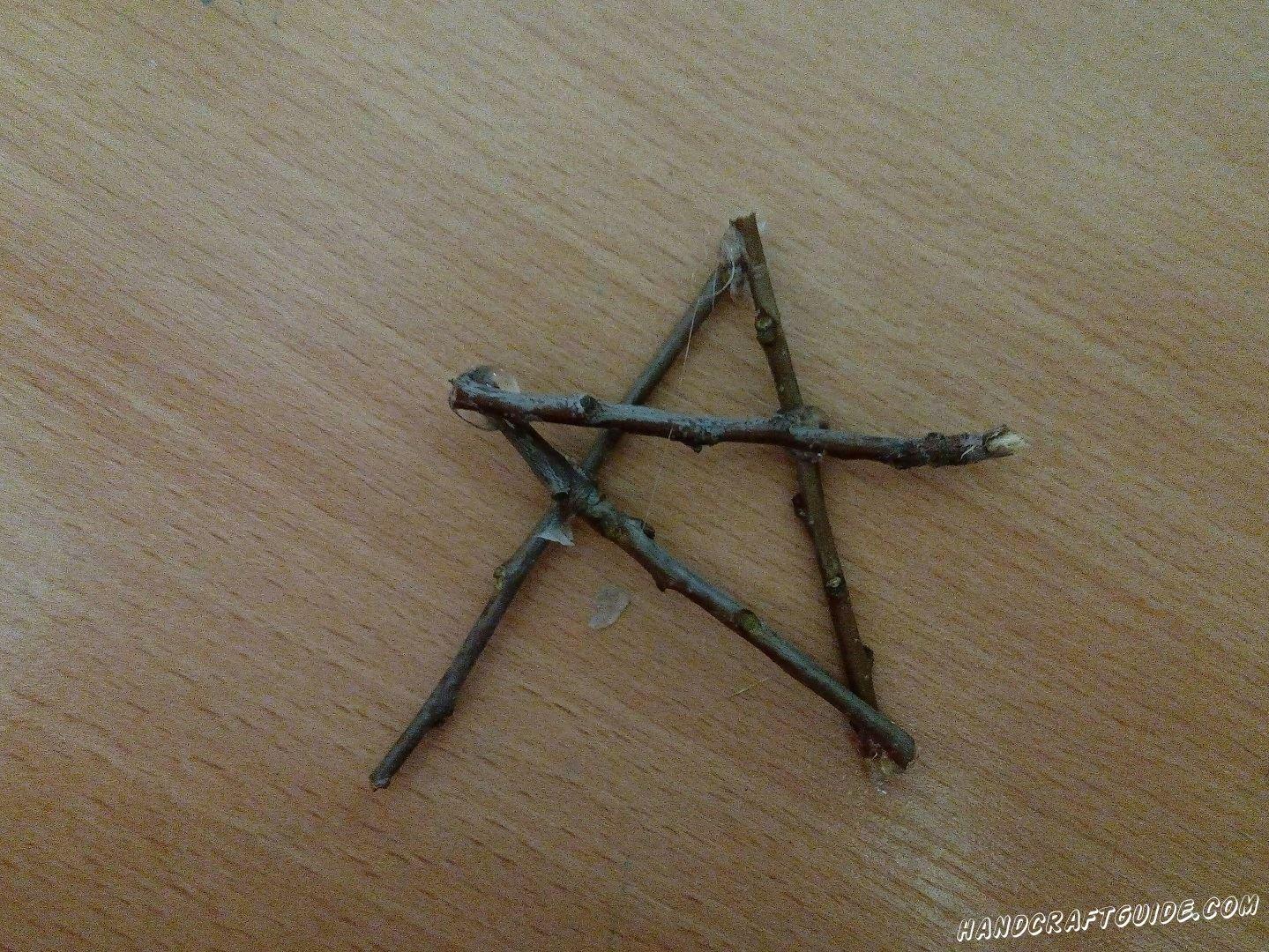 Делаем звёздочку, как показано на фото