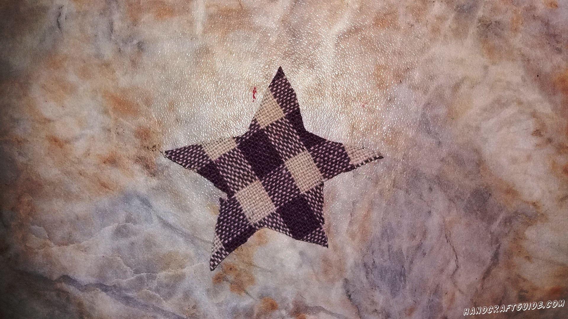 звездочка из ткани
