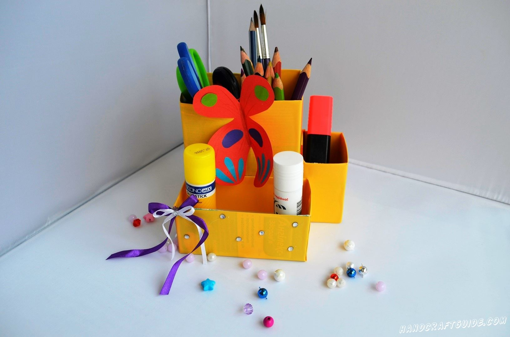 поделка для детей и коробочек