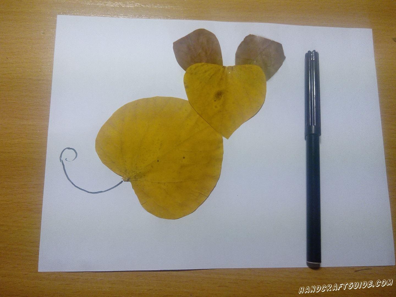 осенняя аппликация мышки