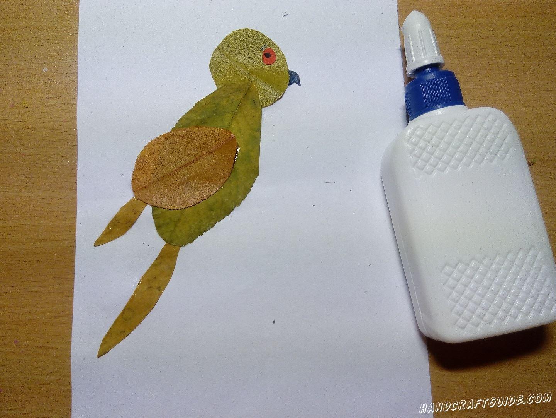 простоя аппликация птички