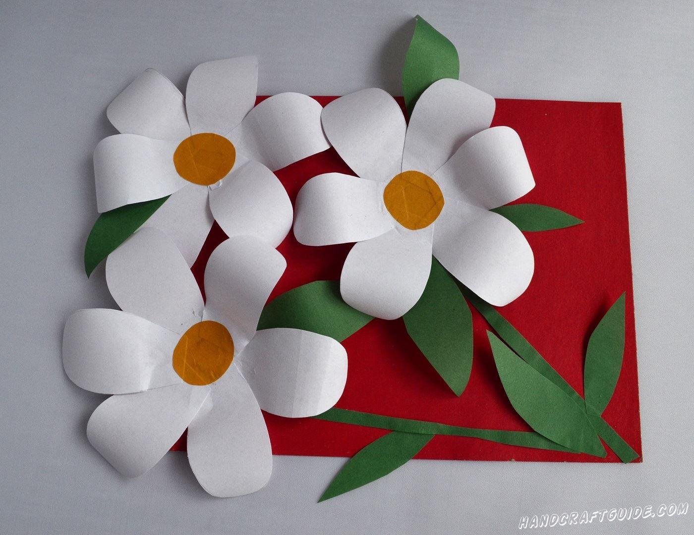 открытка цветы своими руками