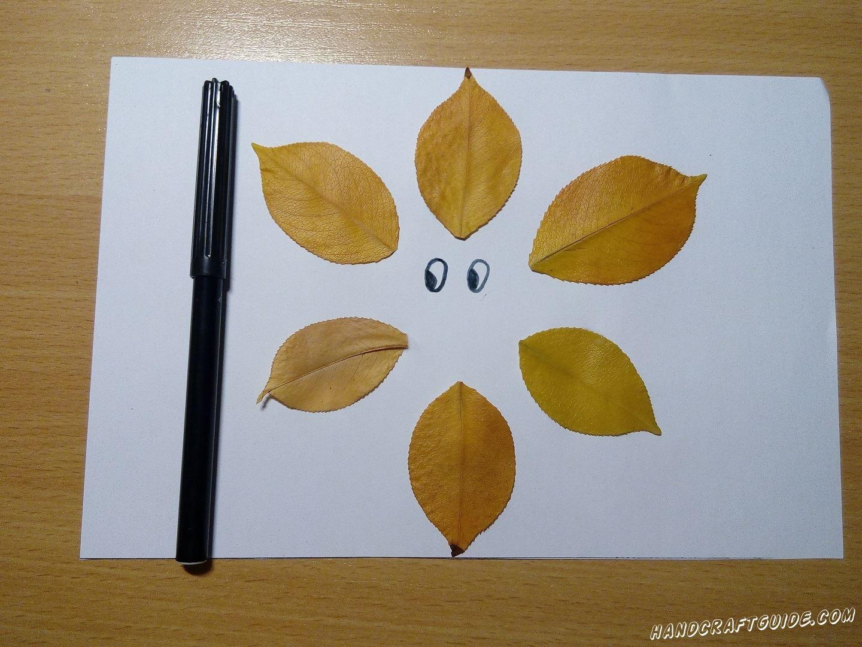 мордочка из осенних листьев