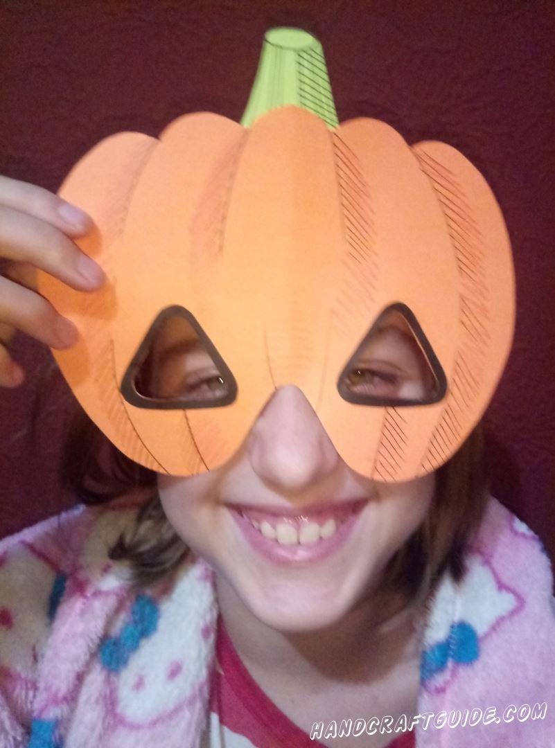 маска тыква на хэллоуин своими руками